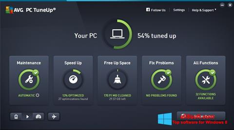 Screenshot AVG PC Tuneup Windows 8