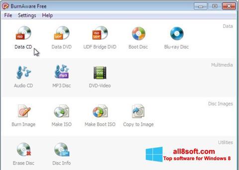 Screenshot BurnAware Free Windows 8