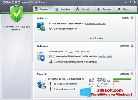 Screenshot Comodo Internet Security Premium Windows 8