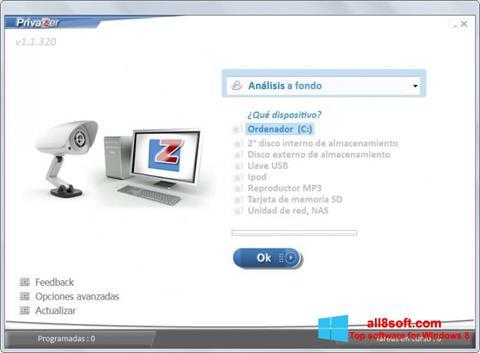 Screenshot PrivaZer Windows 8