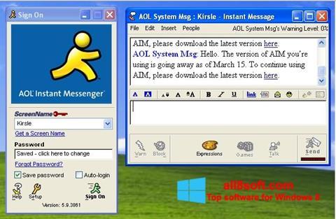 Screenshot AOL Instant Messenger Windows 8