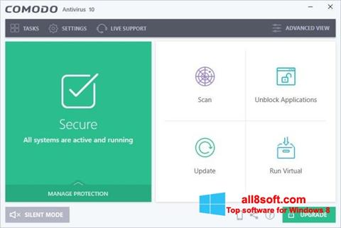 Screenshot Comodo Antivirus Windows 8