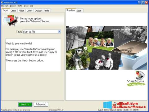Screenshot VueScan Windows 8