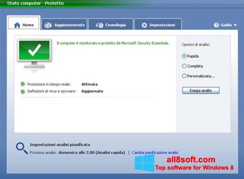 Screenshot Microsoft Security Essentials Windows 8
