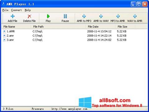 Screenshot AMR Player Windows 8