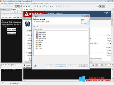 Screenshot Aptana Studio Windows 8