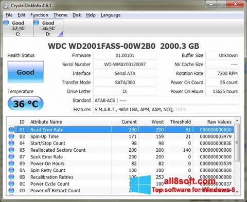 Screenshot CrystalDiskInfo Windows 8