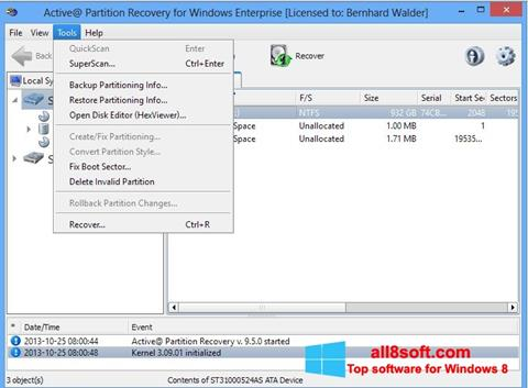 Screenshot Active Partition Recovery Windows 8
