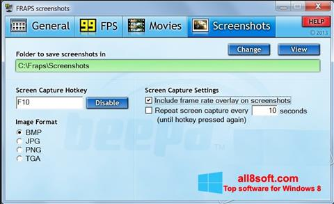 fraps windows 8.1 64 bit