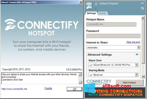 Screenshot Connectify Hotspot PRO Windows 8