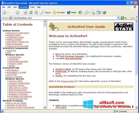 Screenshot ActivePerl Windows 8