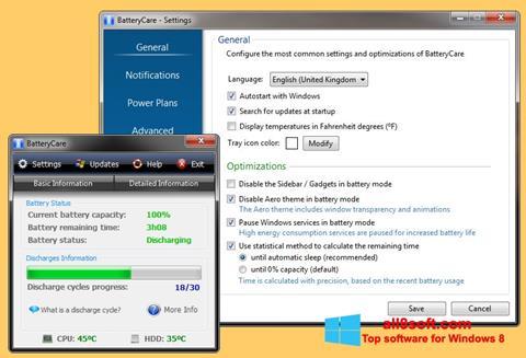 Screenshot BatteryCare Windows 8