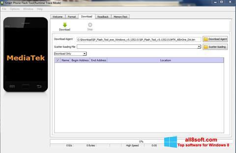 Screenshot FlashTool Windows 8