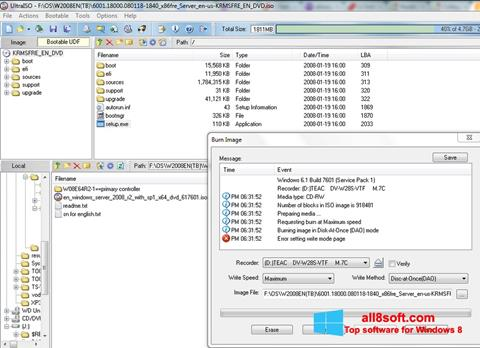 Screenshot UltraISO Windows 8