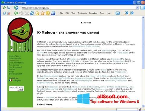 Screenshot K-Meleon Windows 8