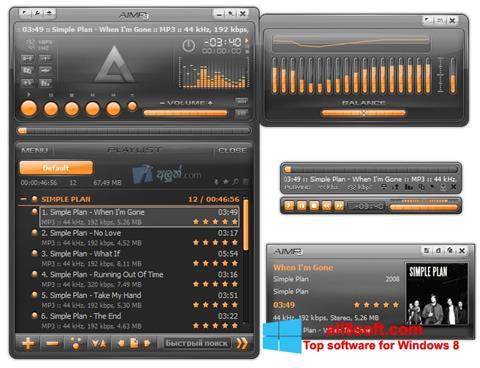 Screenshot AIMP Windows 8