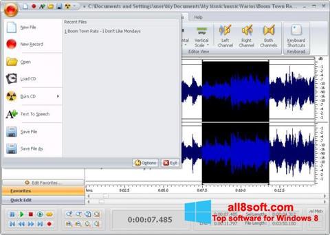 Screenshot Free Audio Editor Windows 8