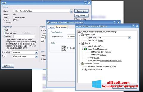 Screenshot CutePDF Writer Windows 8