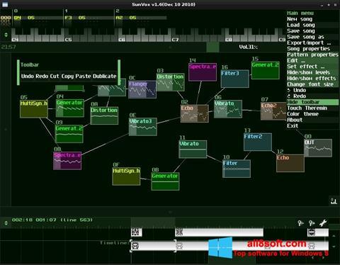 Screenshot SunVox Windows 8