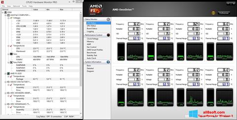 Screenshot AMD Overdrive Windows 8