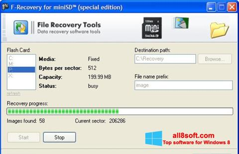 Screenshot F-Recovery SD Windows 8