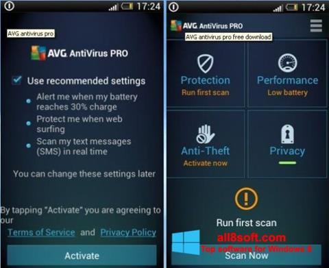Screenshot AVG AntiVirus Pro Windows 8