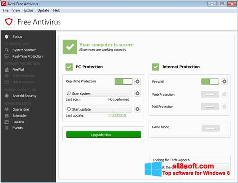 Screenshot Avira Free Antivirus Windows 8