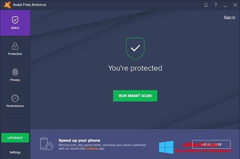 Screenshot Avast Free Antivirus Windows 8