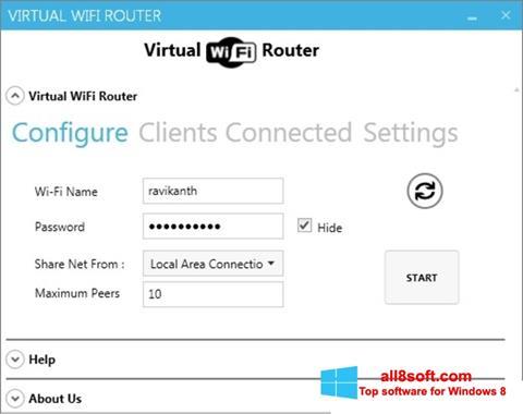 Screenshot Virtual WiFi Router Windows 8