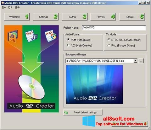 Screenshot Audio DVD Creator Windows 8