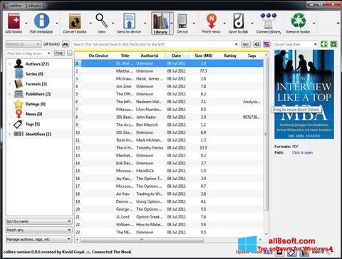 Screenshot Calibre Windows 8