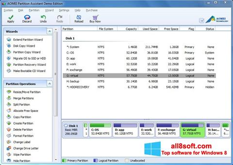Screenshot AOMEI Partition Assistant Windows 8