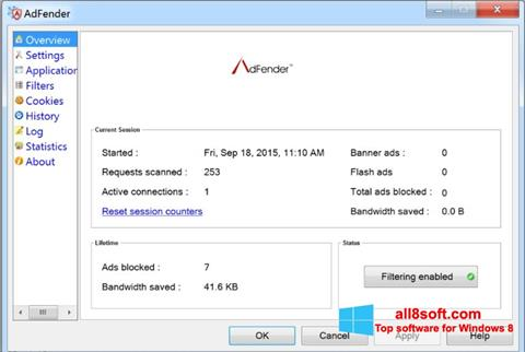 Screenshot AdFender Windows 8
