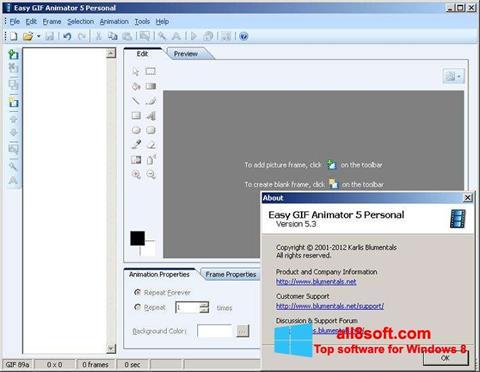 Screenshot Easy GIF Animator Windows 8