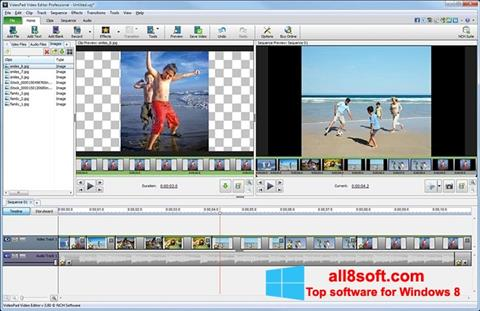 Screenshot VideoPad Video Editor Windows 8