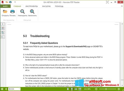 Screenshot Hamster PDF Reader Windows 8