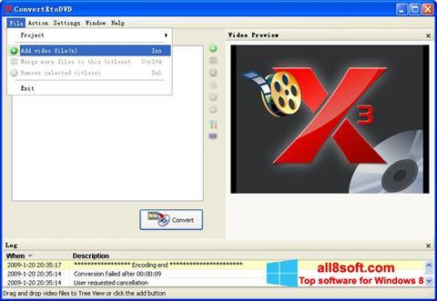 Screenshot ConvertXToDVD Windows 8