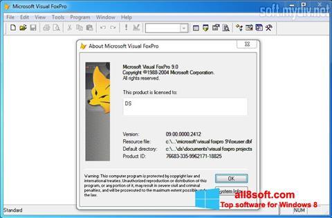 Screenshot Microsoft Visual FoxPro Windows 8