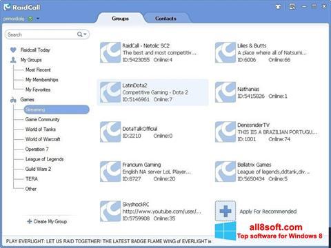 Screenshot RaidCall Windows 8