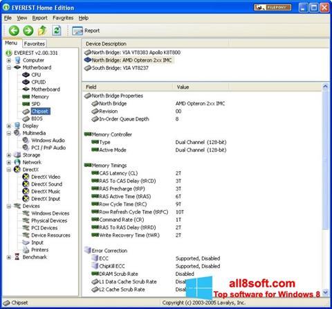 Screenshot EVEREST Home Edition Windows 8