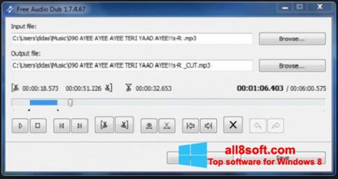 Screenshot Free Audio Dub Windows 8