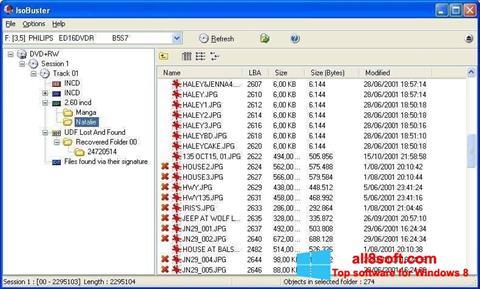 Screenshot IsoBuster Windows 8