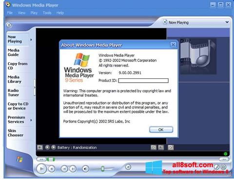 Screenshot Windows Media Player Windows 8