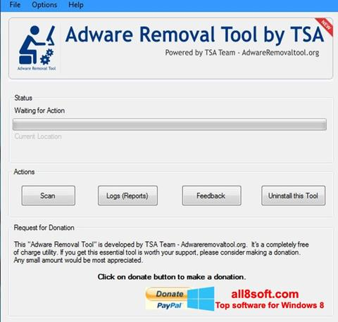 Screenshot Adware Removal Tool Windows 8